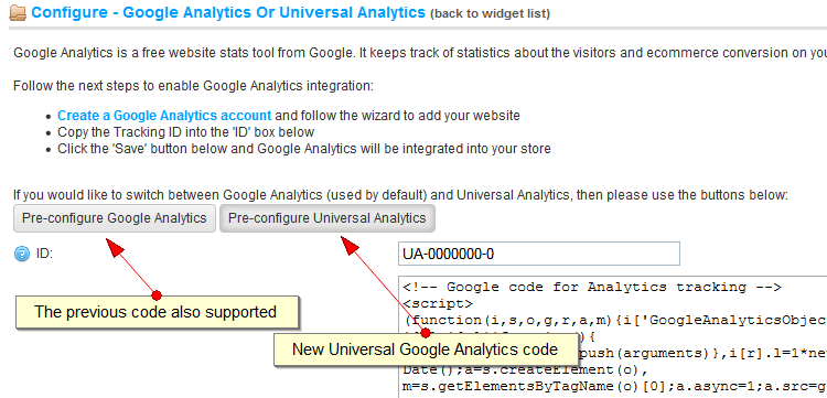 nopCommerce  3.3 review - New Google Universal Analytics