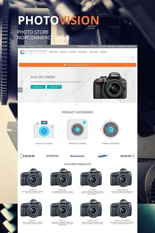 Picture of NopCommerce Photo Vision Theme