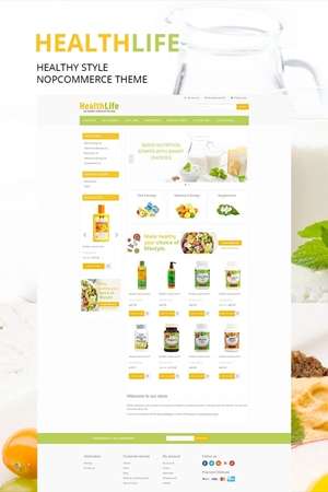 NopCommerce Healthy theme