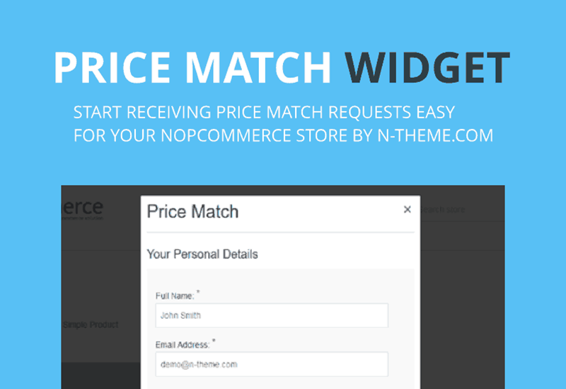 nopCommerce price match plugin