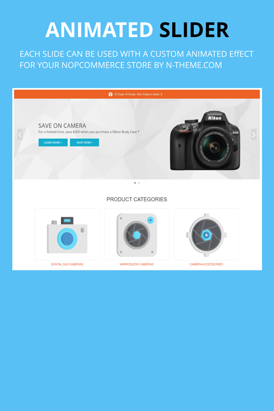 nopCommerce responsive animated slider